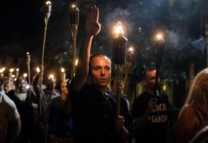 """The """"fine people"""" protesting in support of Confederate statuary—AND NOT AT ALL  RACIST!—in Charlottesville, VA, August 11, 2017"""
