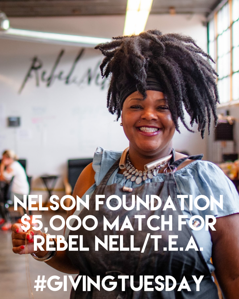 This is Azzie. She's Rebel Nell's production manager and an alum of their programs.
