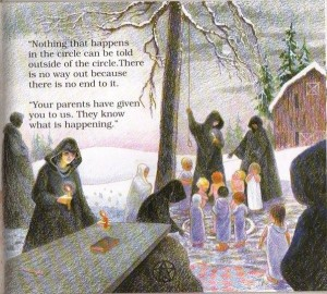 """Don't Make Me Go Back, Mommy: A Child's Book about Satanic Ritual Abuse"" ritual"