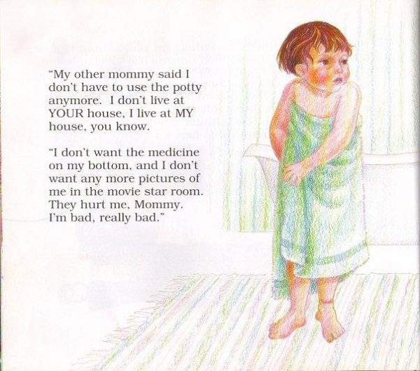 """Don't Make Me Go Back, Mommy: A Child's Book about Satanic Ritual Abuse"" bath"