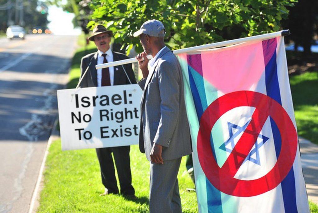 anti-Jewish protest in Ann Arbor, MI, around 2019